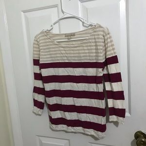 5/$45 Banana Republic Factory Sz Small Striped Top
